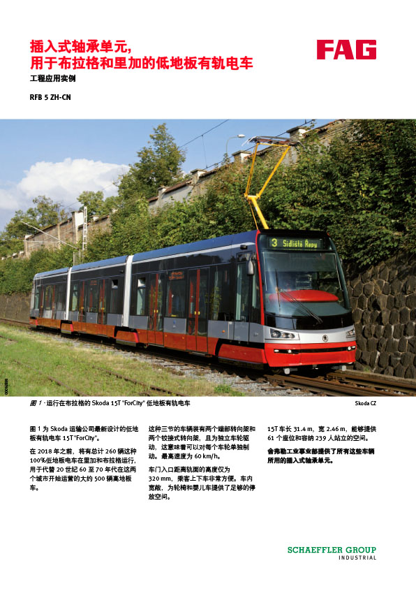 插入式轴承单元, 用于布拉格和里加的低地板有轨电车